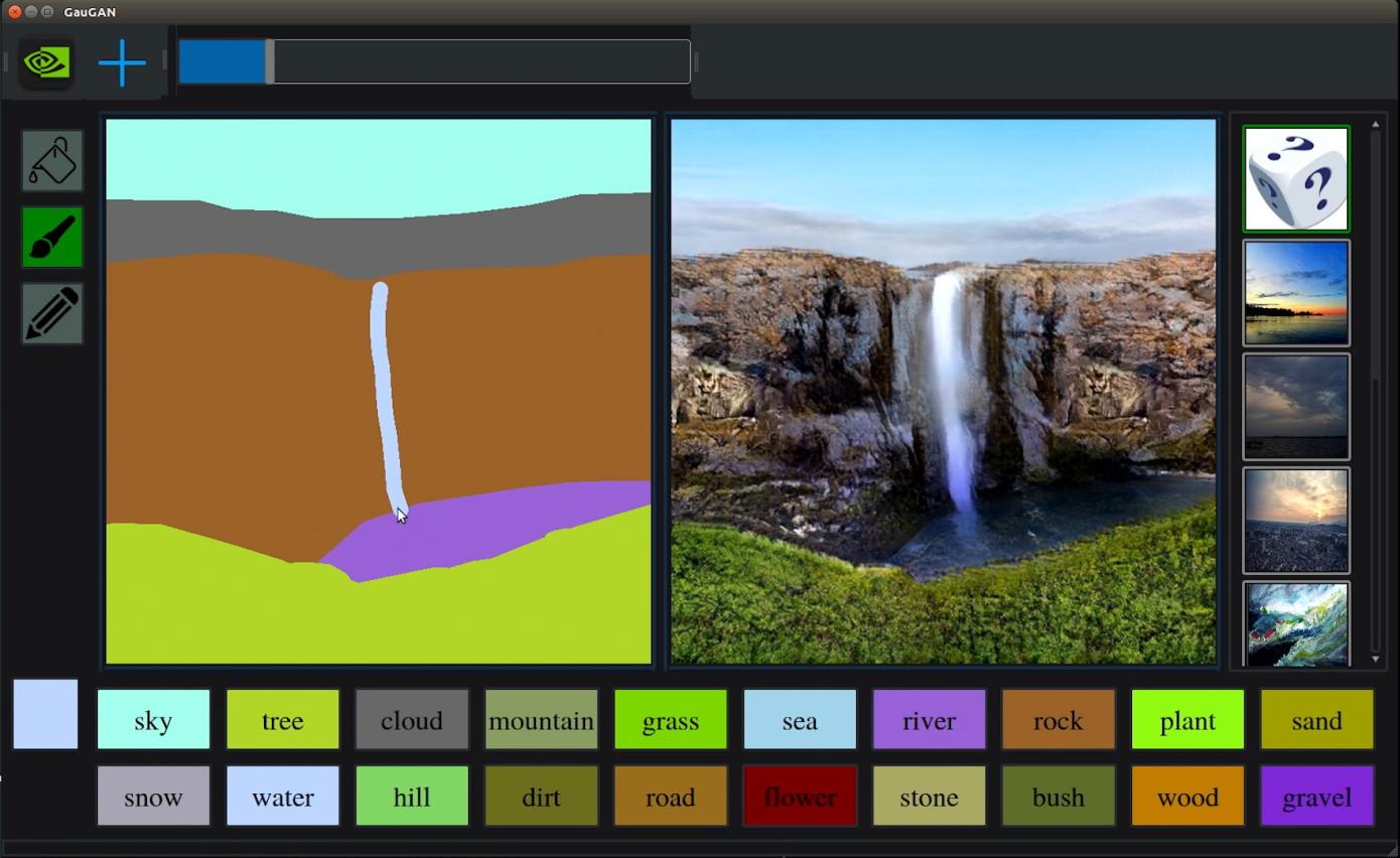 Нейросеть от Nvidia превращает простейшие наброски в красивые пейзажи - 1