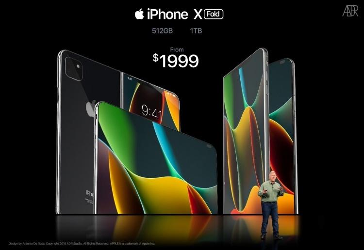 Складной iPhone X Fold глазами дизайнера