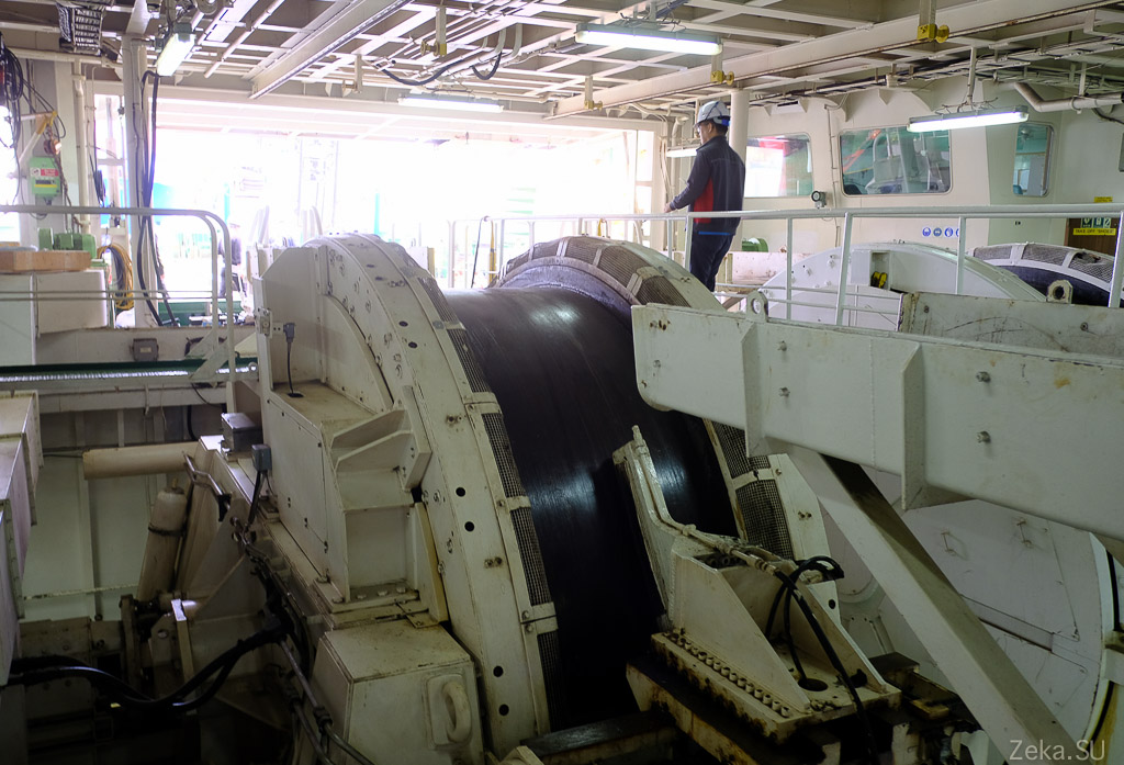 Строительство линии связи Сахалин – Курилы. Экскурсия на Segero — судно-кабелеукладчик - 11