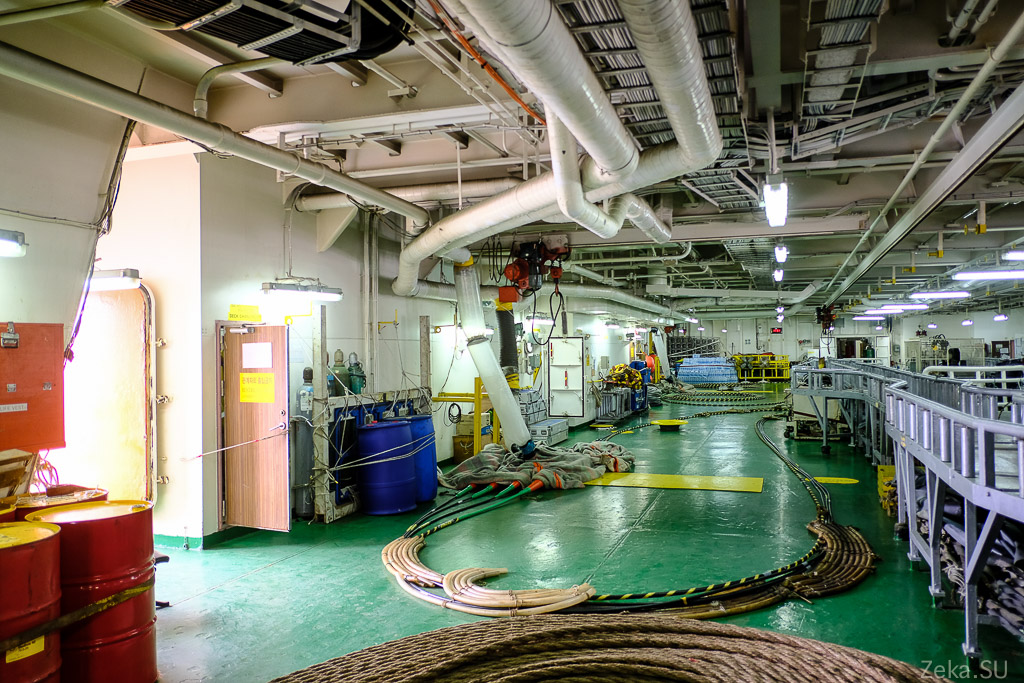 Строительство линии связи Сахалин – Курилы. Экскурсия на Segero — судно-кабелеукладчик - 14