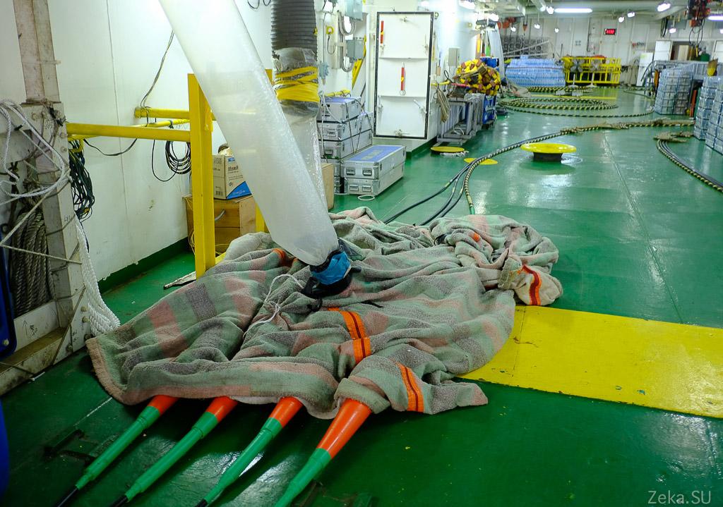 Строительство линии связи Сахалин – Курилы. Экскурсия на Segero — судно-кабелеукладчик - 15