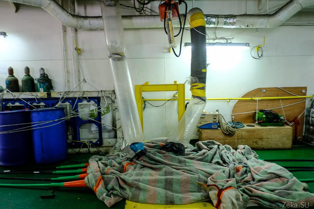Строительство линии связи Сахалин – Курилы. Экскурсия на Segero — судно-кабелеукладчик - 16