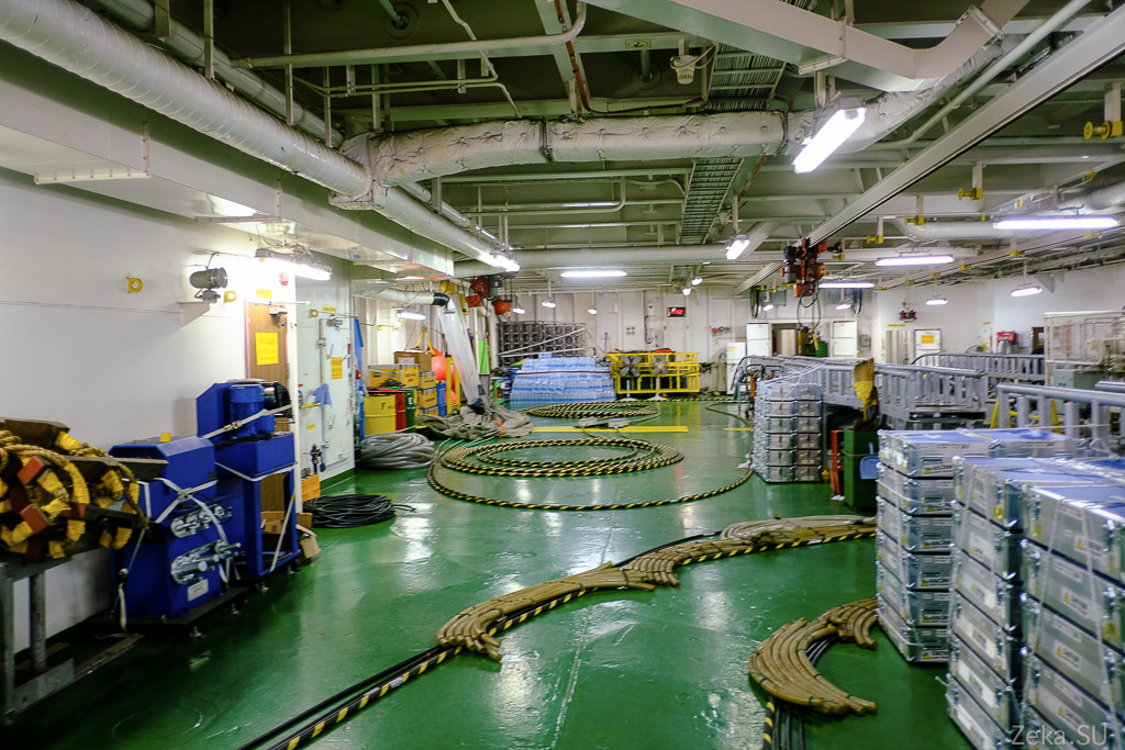 Строительство линии связи Сахалин – Курилы. Экскурсия на Segero — судно-кабелеукладчик - 17