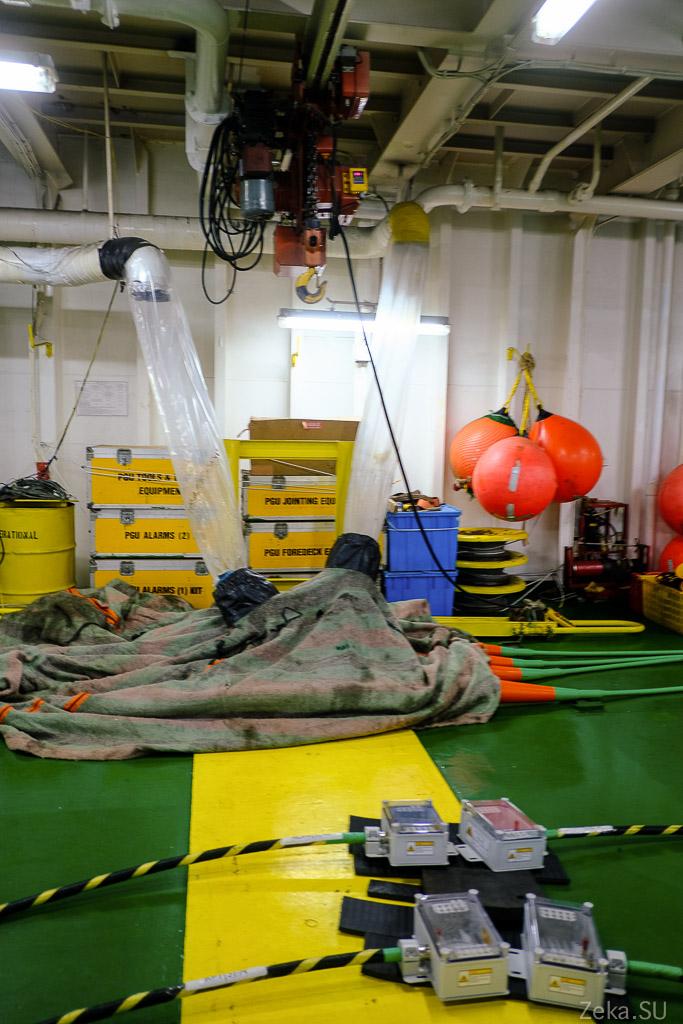 Строительство линии связи Сахалин – Курилы. Экскурсия на Segero — судно-кабелеукладчик - 19