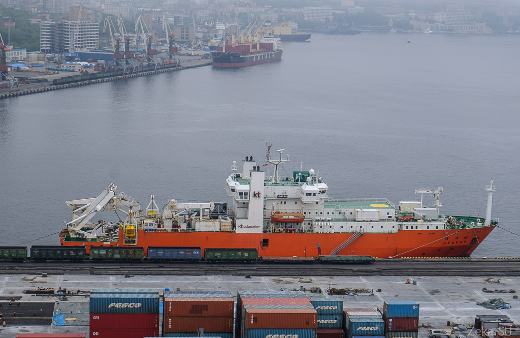 Строительство линии связи Сахалин – Курилы. Экскурсия на Segero — судно-кабелеукладчик - 3