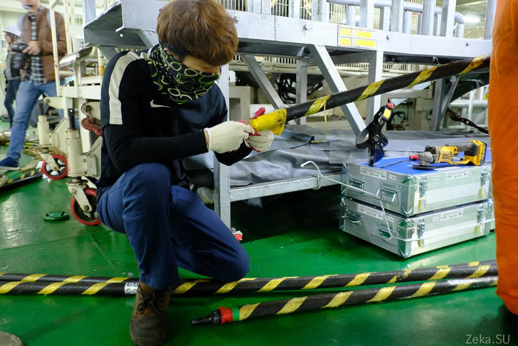 Строительство линии связи Сахалин – Курилы. Экскурсия на Segero — судно-кабелеукладчик - 33