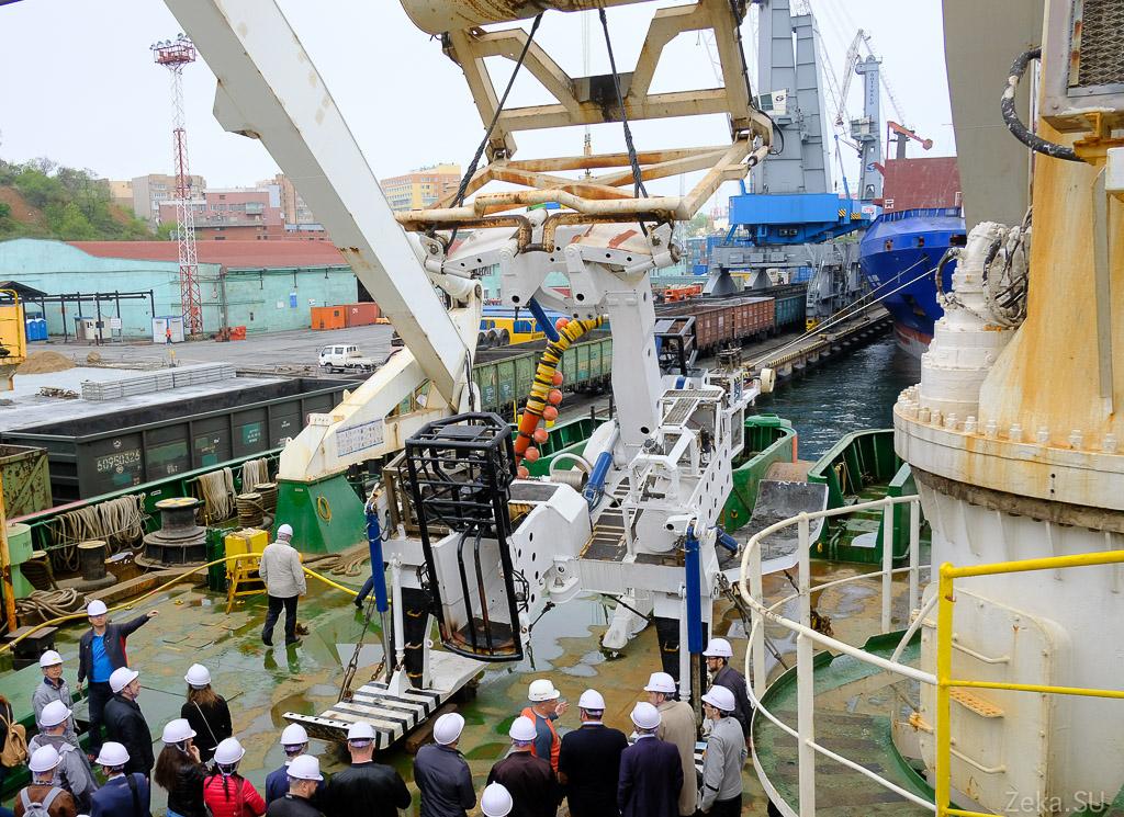 Строительство линии связи Сахалин – Курилы. Экскурсия на Segero — судно-кабелеукладчик - 39