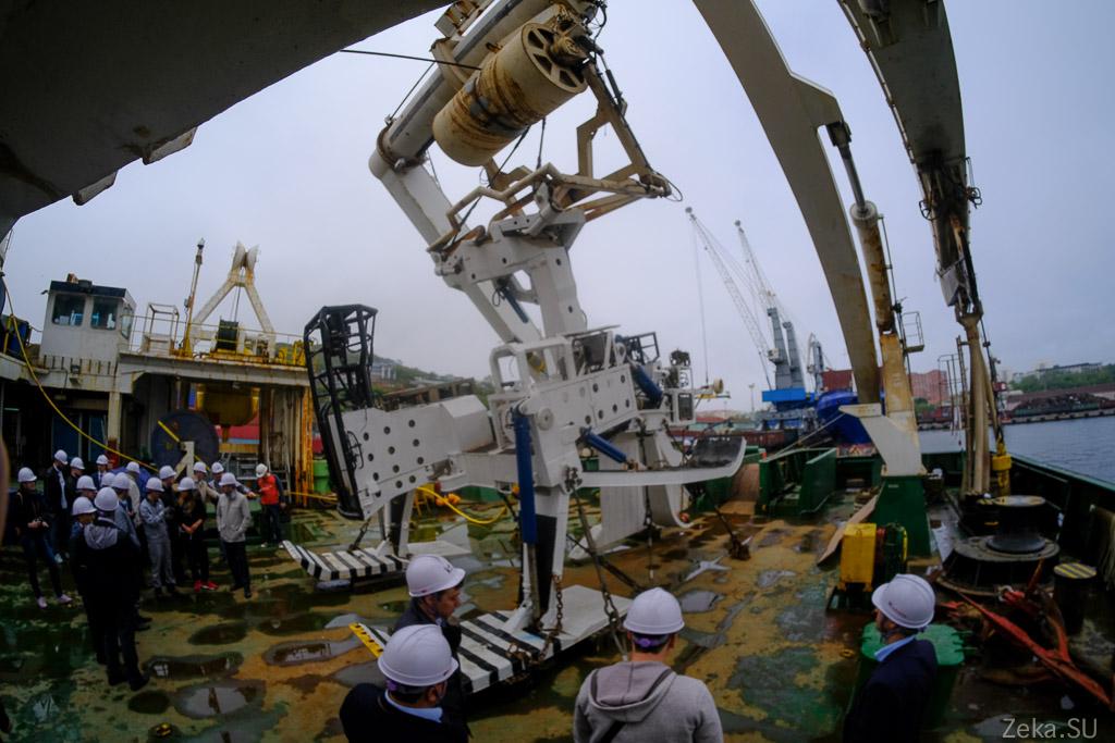 Строительство линии связи Сахалин – Курилы. Экскурсия на Segero — судно-кабелеукладчик - 40