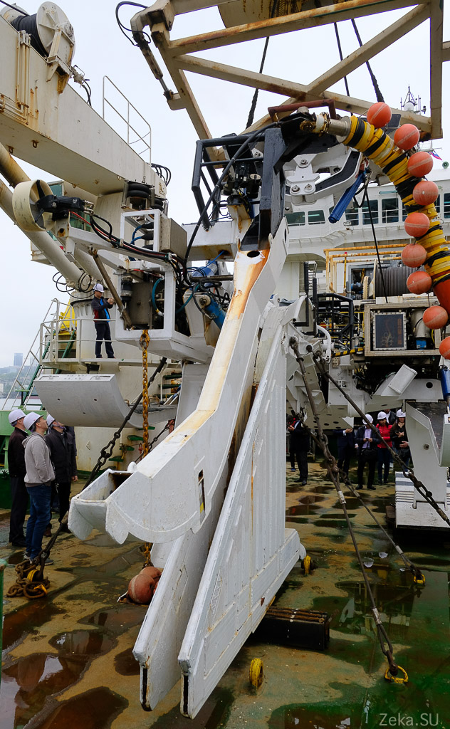 Строительство линии связи Сахалин – Курилы. Экскурсия на Segero — судно-кабелеукладчик - 43