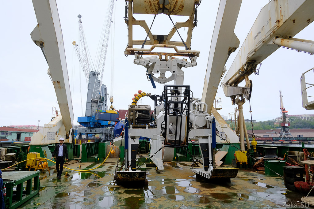 Строительство линии связи Сахалин – Курилы. Экскурсия на Segero — судно-кабелеукладчик - 45