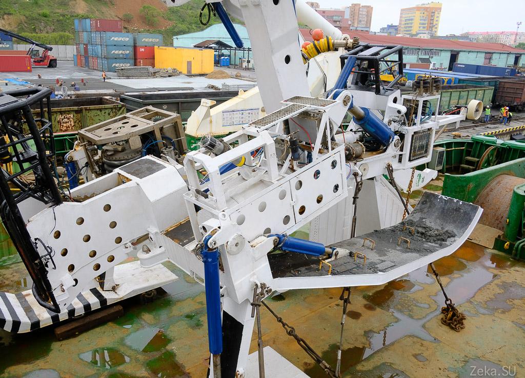 Строительство линии связи Сахалин – Курилы. Экскурсия на Segero — судно-кабелеукладчик - 49