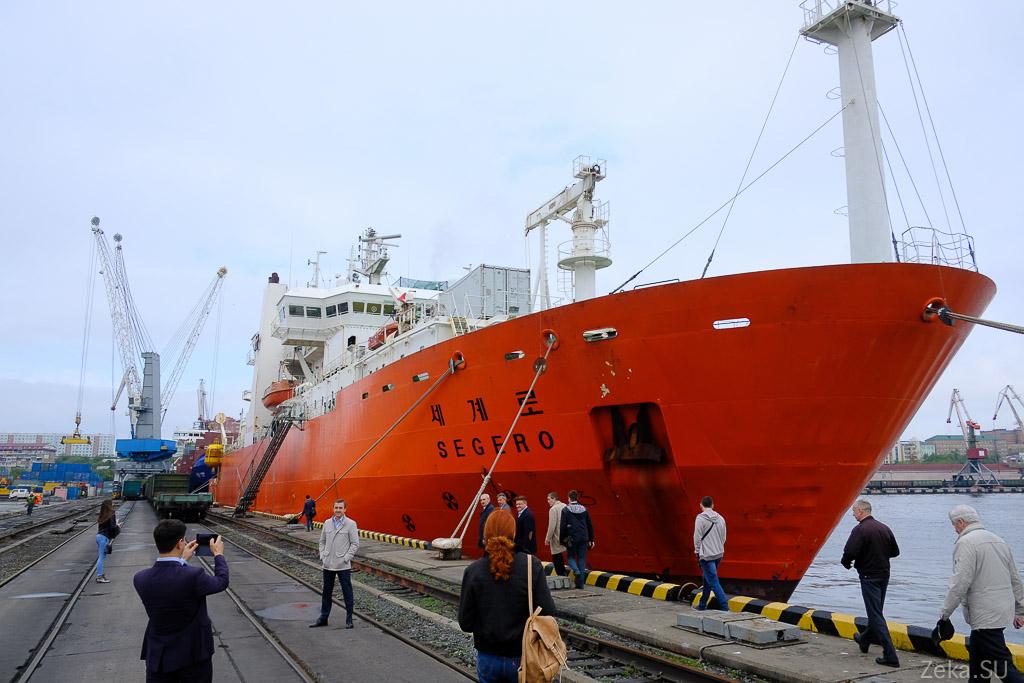 Строительство линии связи Сахалин – Курилы. Экскурсия на Segero — судно-кабелеукладчик - 5