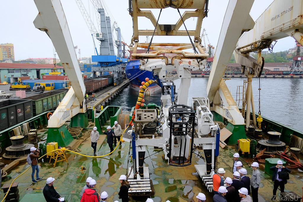 Строительство линии связи Сахалин – Курилы. Экскурсия на Segero — судно-кабелеукладчик - 50