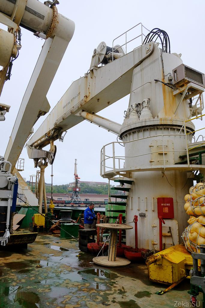 Строительство линии связи Сахалин – Курилы. Экскурсия на Segero — судно-кабелеукладчик - 53
