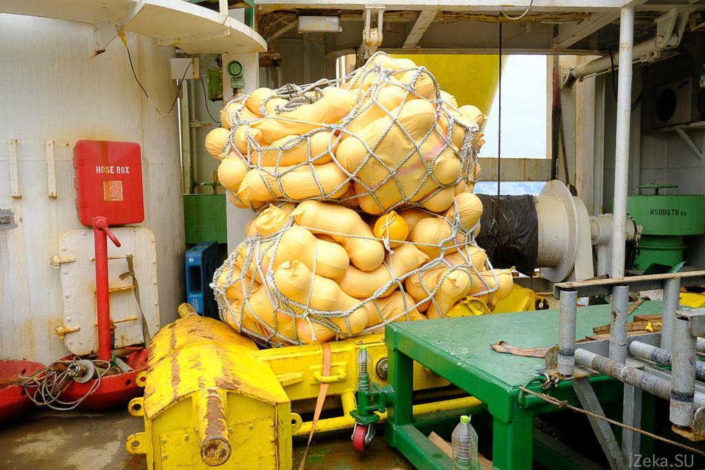 Строительство линии связи Сахалин – Курилы. Экскурсия на Segero — судно-кабелеукладчик - 54