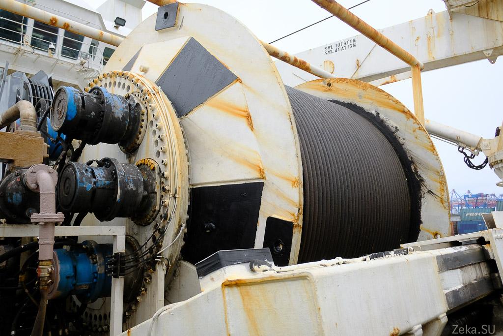 Строительство линии связи Сахалин – Курилы. Экскурсия на Segero — судно-кабелеукладчик - 56