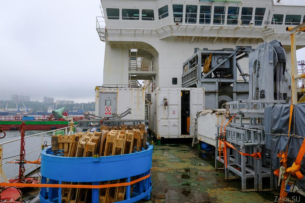 Строительство линии связи Сахалин – Курилы. Экскурсия на Segero — судно-кабелеукладчик - 57