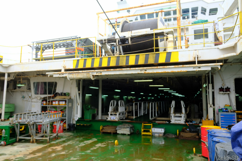 Строительство линии связи Сахалин – Курилы. Экскурсия на Segero — судно-кабелеукладчик - 58
