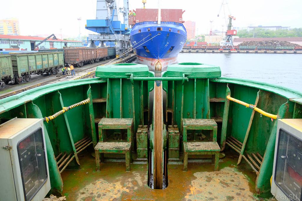 Строительство линии связи Сахалин – Курилы. Экскурсия на Segero — судно-кабелеукладчик - 59