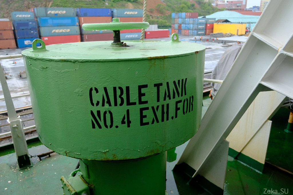Строительство линии связи Сахалин – Курилы. Экскурсия на Segero — судно-кабелеукладчик - 7