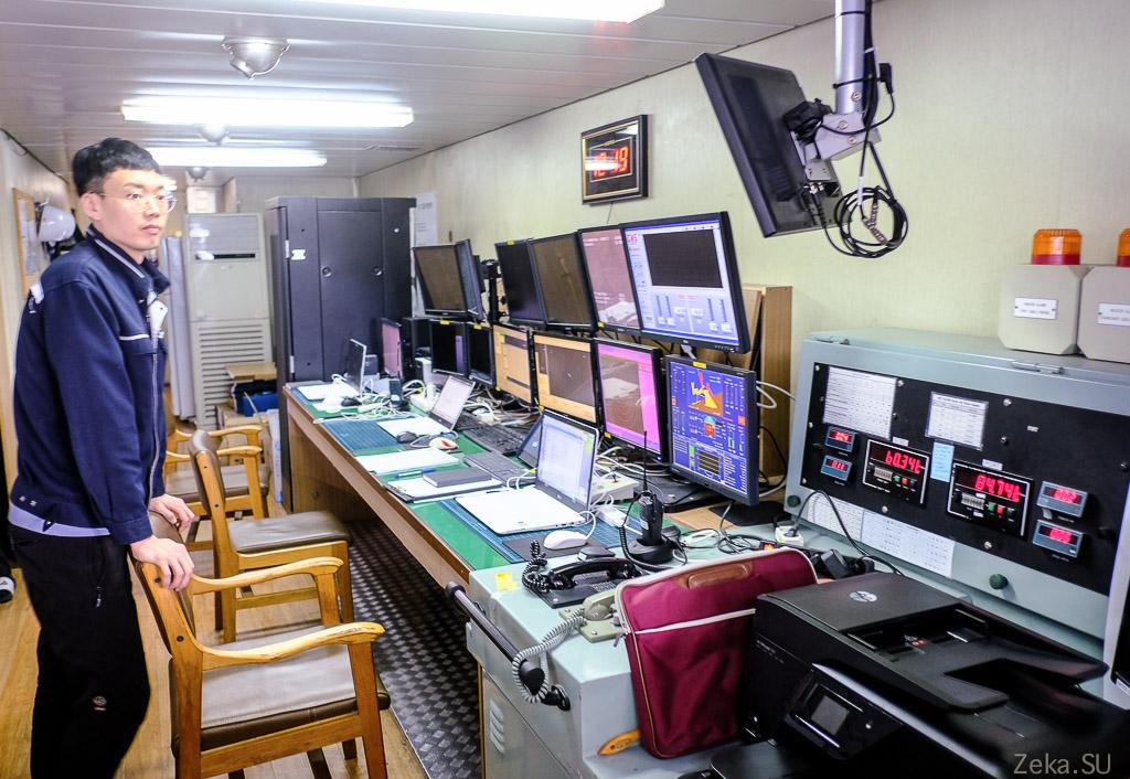 Строительство линии связи Сахалин – Курилы. Экскурсия на Segero — судно-кабелеукладчик - 71