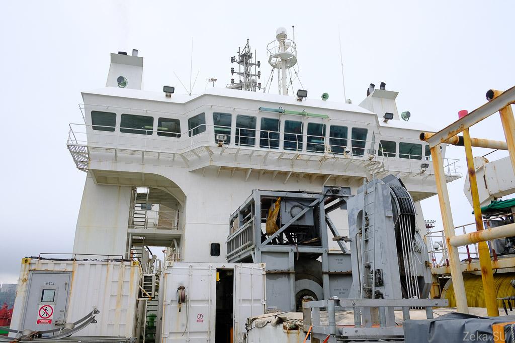 Строительство линии связи Сахалин – Курилы. Экскурсия на Segero — судно-кабелеукладчик - 76