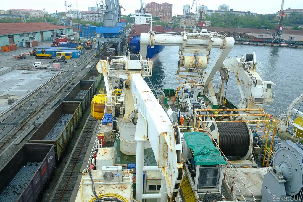 Строительство линии связи Сахалин – Курилы. Экскурсия на Segero — судно-кабелеукладчик - 78