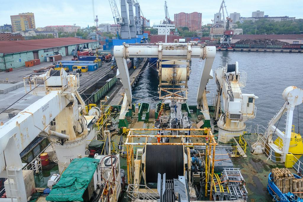 Строительство линии связи Сахалин – Курилы. Экскурсия на Segero — судно-кабелеукладчик - 79