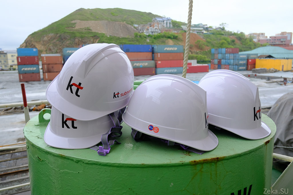 Строительство линии связи Сахалин – Курилы. Экскурсия на Segero — судно-кабелеукладчик - 82