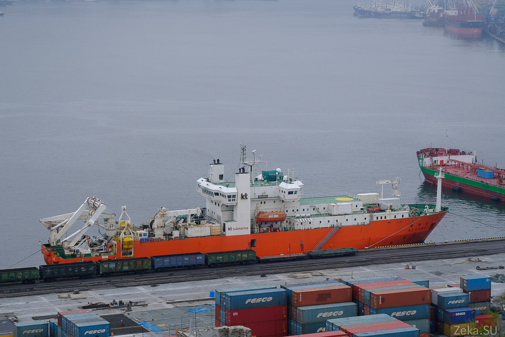 Строительство линии связи Сахалин – Курилы. Экскурсия на Segero — судно-кабелеукладчик - 83
