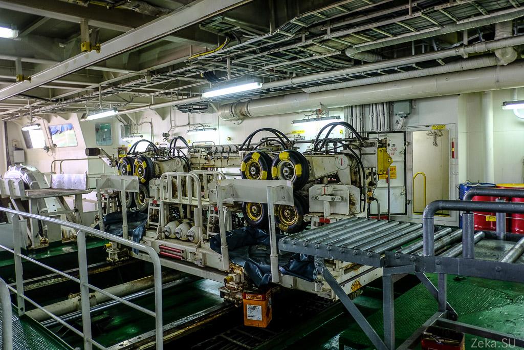 Строительство линии связи Сахалин – Курилы. Экскурсия на Segero — судно-кабелеукладчик - 9