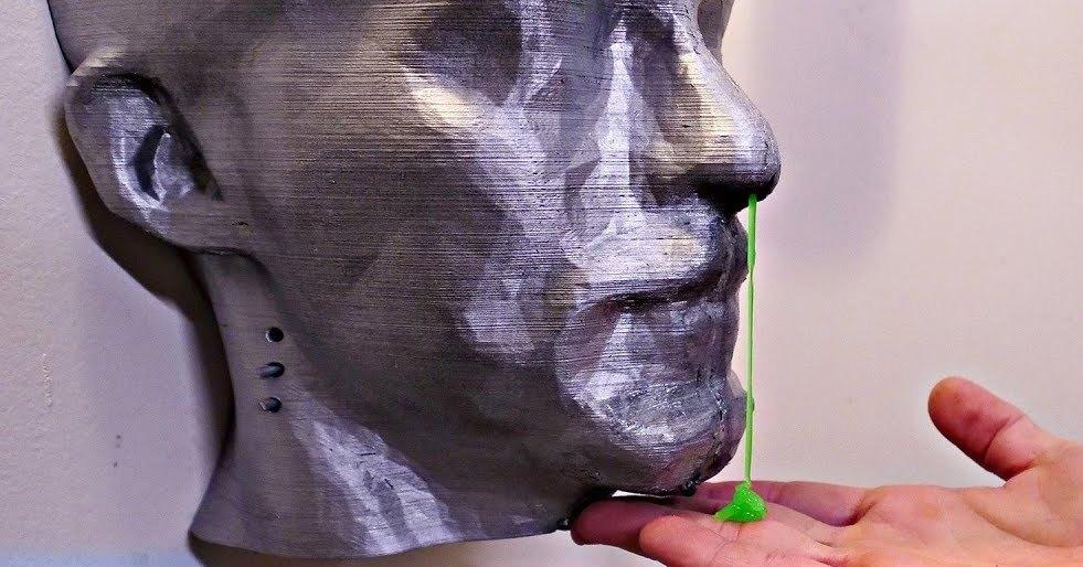 Диспенсер для мил в форме человеческой головы: 3D-печать