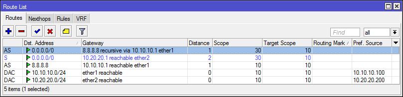 Основы статической маршрутизации в Mikrotik RouterOS - 50