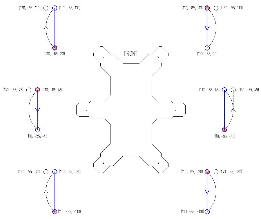 Разработка hexapod с нуля (часть 4) — математика траекторий и последовательности - 9