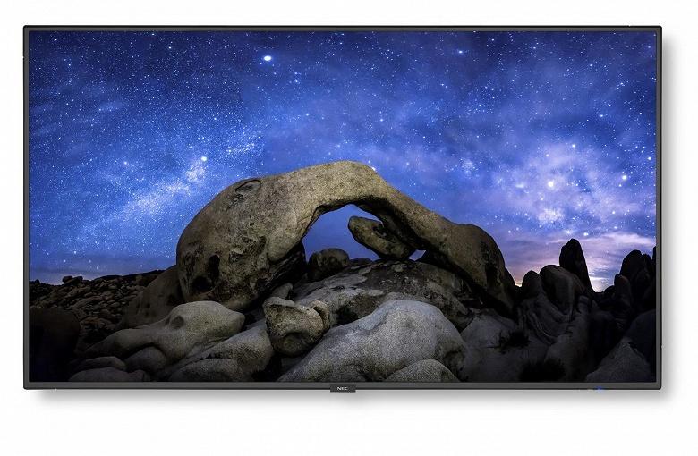 NEC V554Q: 55-дюймовый дисплей 4К UHD для коммерческого применения