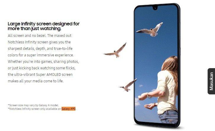 Без челки и отверстий. Смартфон Samsung Galaxy A90 получит Notchless Infinity Screen