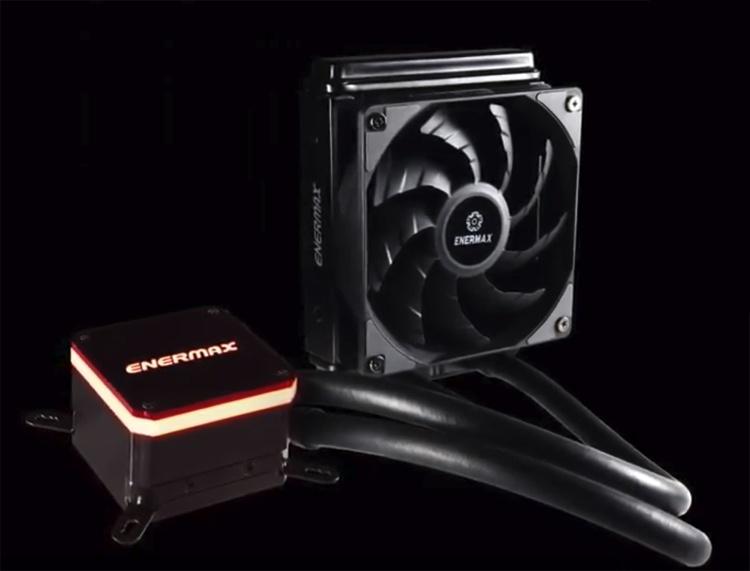 СЖО Enermax Liqmax III оснащена радиатором формата 120 мм