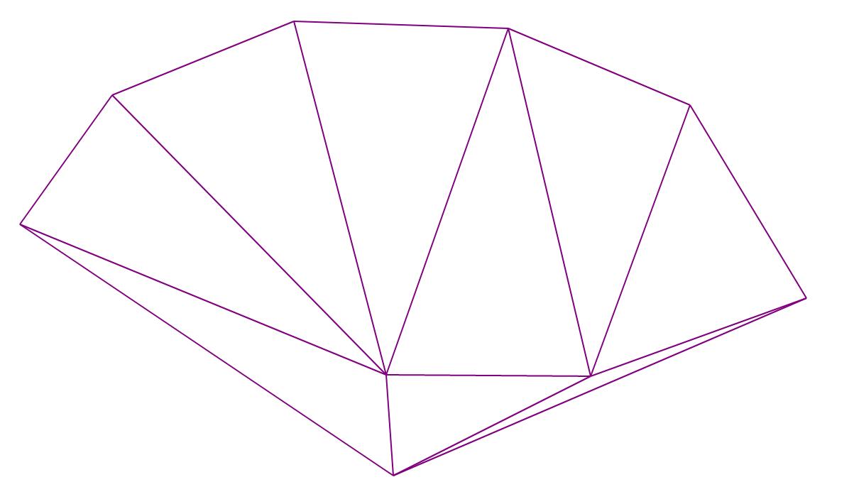 Алгоритм триангуляции Делоне методом заметающей прямой - 2