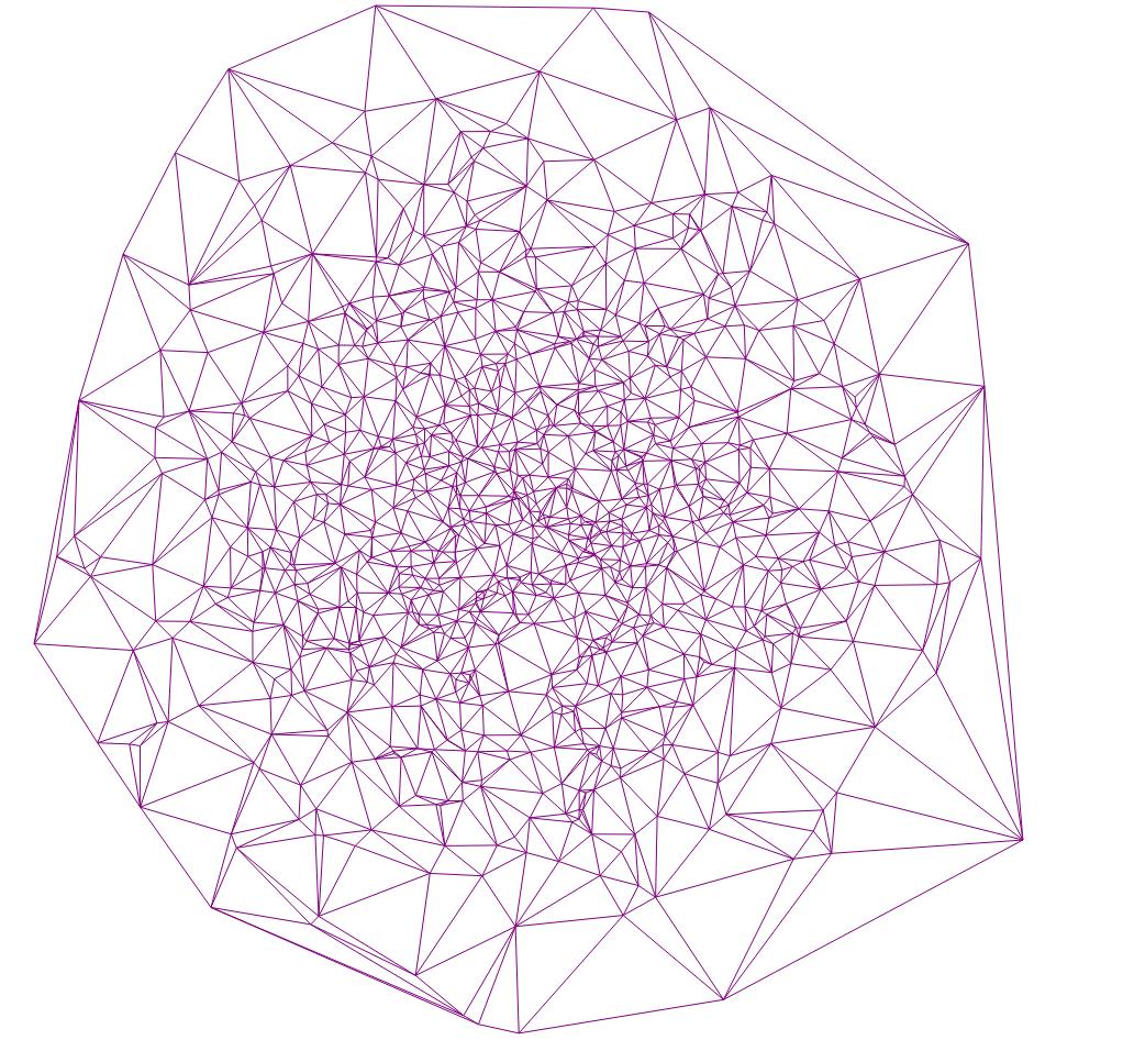 Алгоритм триангуляции Делоне методом заметающей прямой - 32
