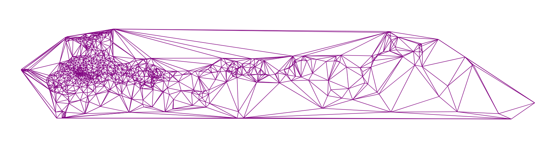 Алгоритм триангуляции Делоне методом заметающей прямой - 34