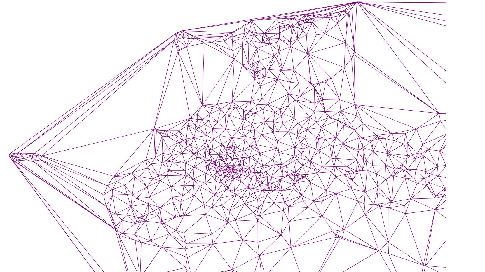 Алгоритм триангуляции Делоне методом заметающей прямой - 35