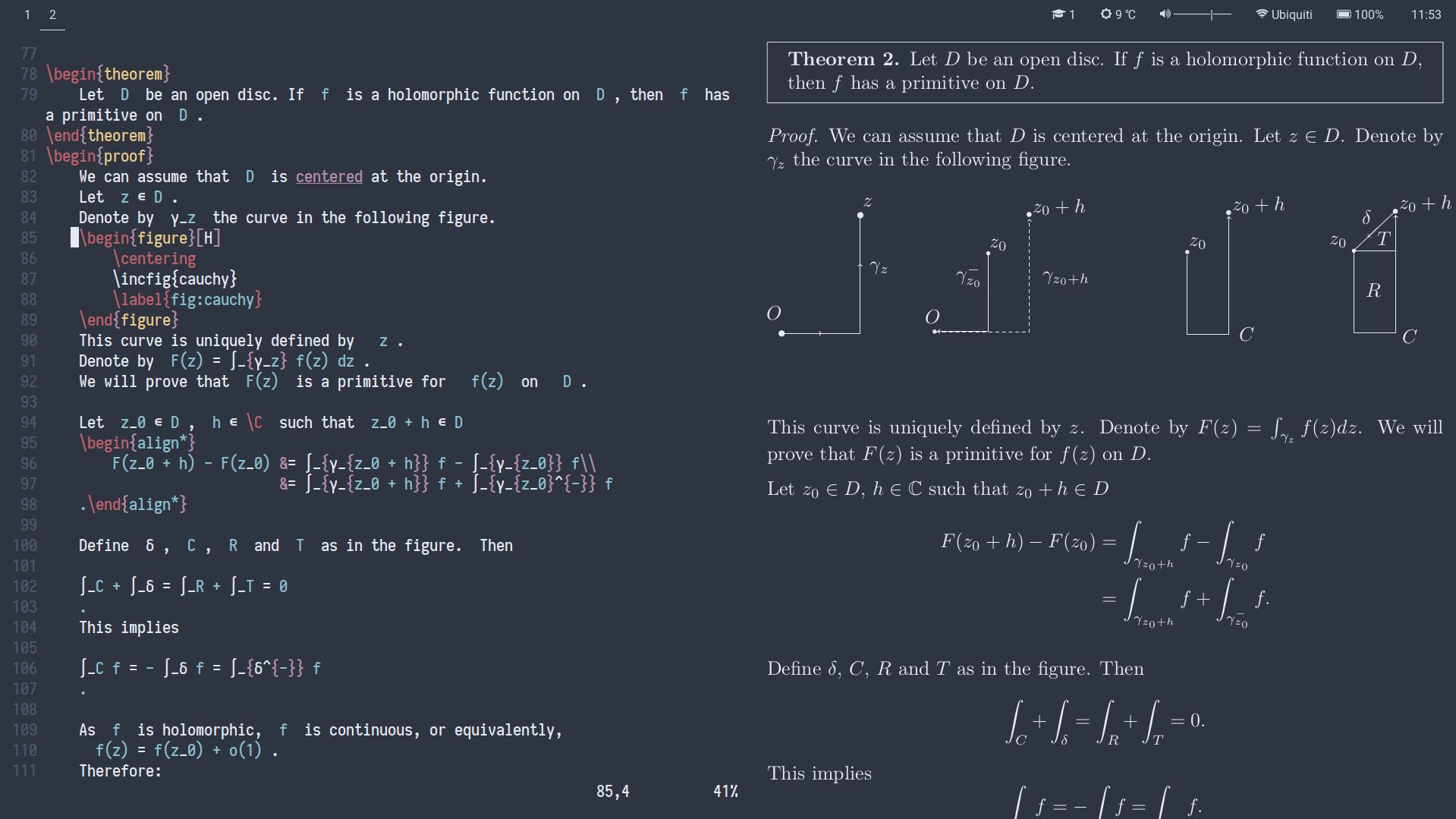 Как я пишу конспекты по математике на LaTeX в Vim - 4