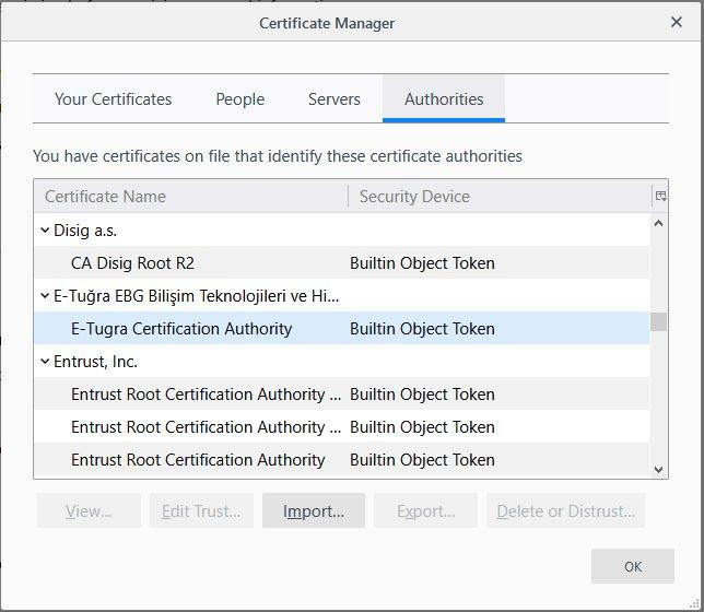 Firefox начал импортировать корневые сертификаты из Windows - 1