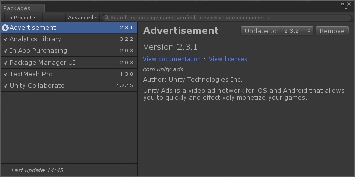 Unity Package Manager - 2