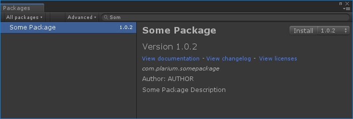 Unity Package Manager - 4