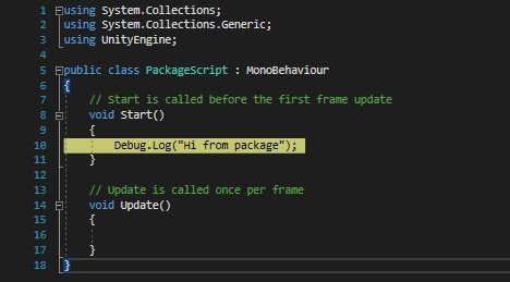 Unity Package Manager - 6
