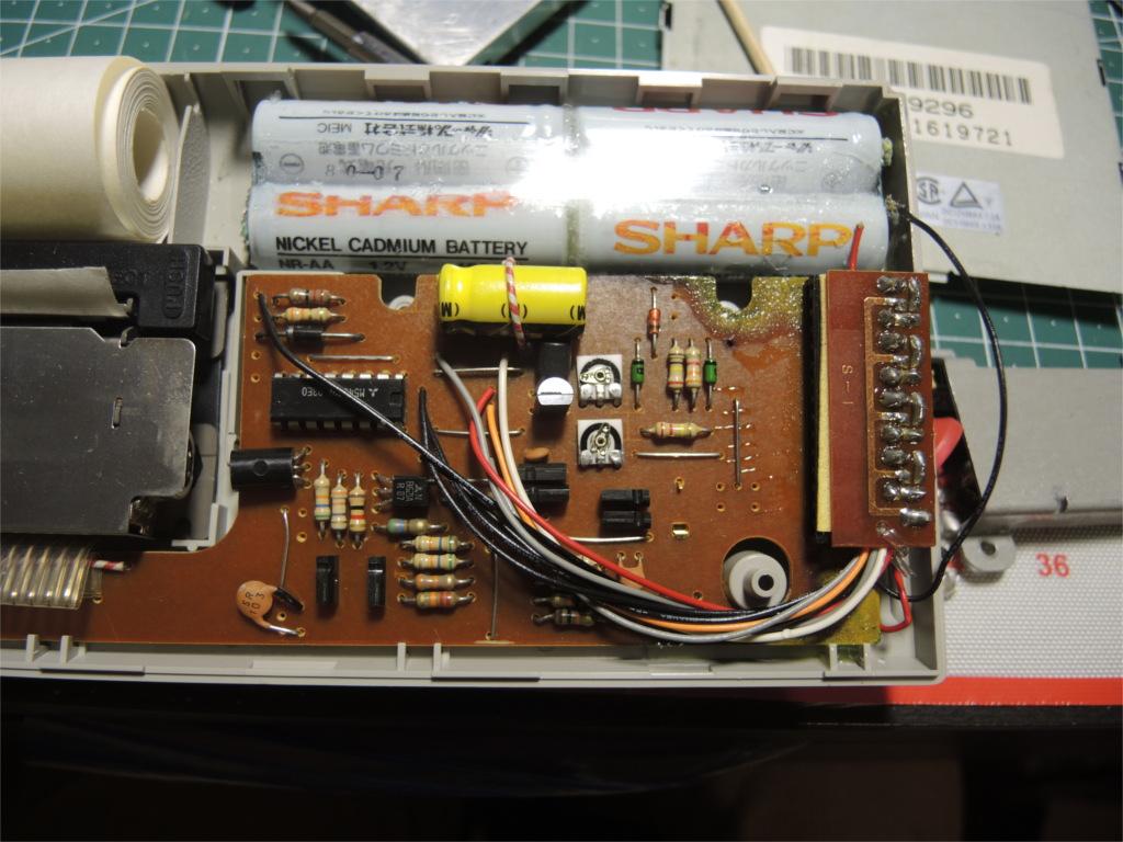 Ремонт устройства хранения и печати заметок Sharp Memowriter EL-7000 после протечки аккумуляторов - 2