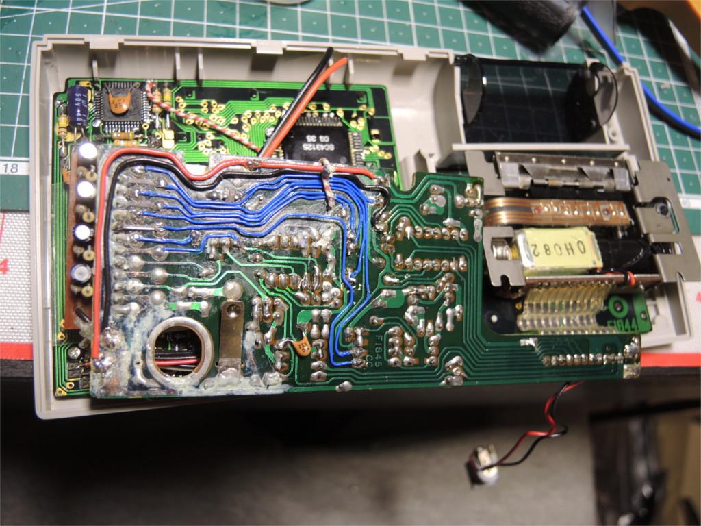 Ремонт устройства хранения и печати заметок Sharp Memowriter EL-7000 после протечки аккумуляторов - 7