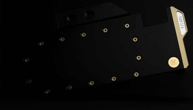 EK Water Blocks использовала золото при создании водоблока для Titan RTX