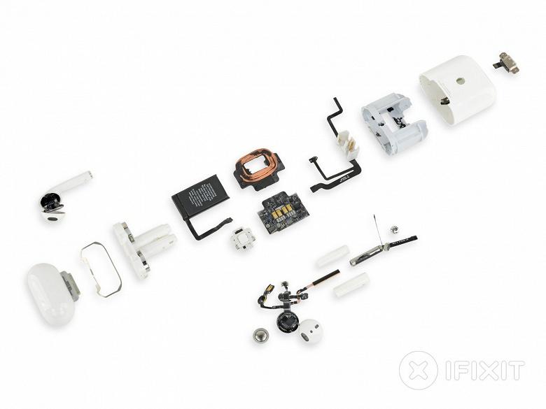 Наушники Apple AirPods 2019 получили 0 баллов за ремонтопригодность